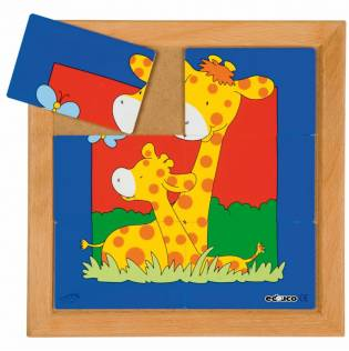 Animal Puzzle Mother + Child - Set of 8